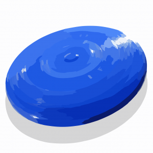 frisbee, flying saucer, circle