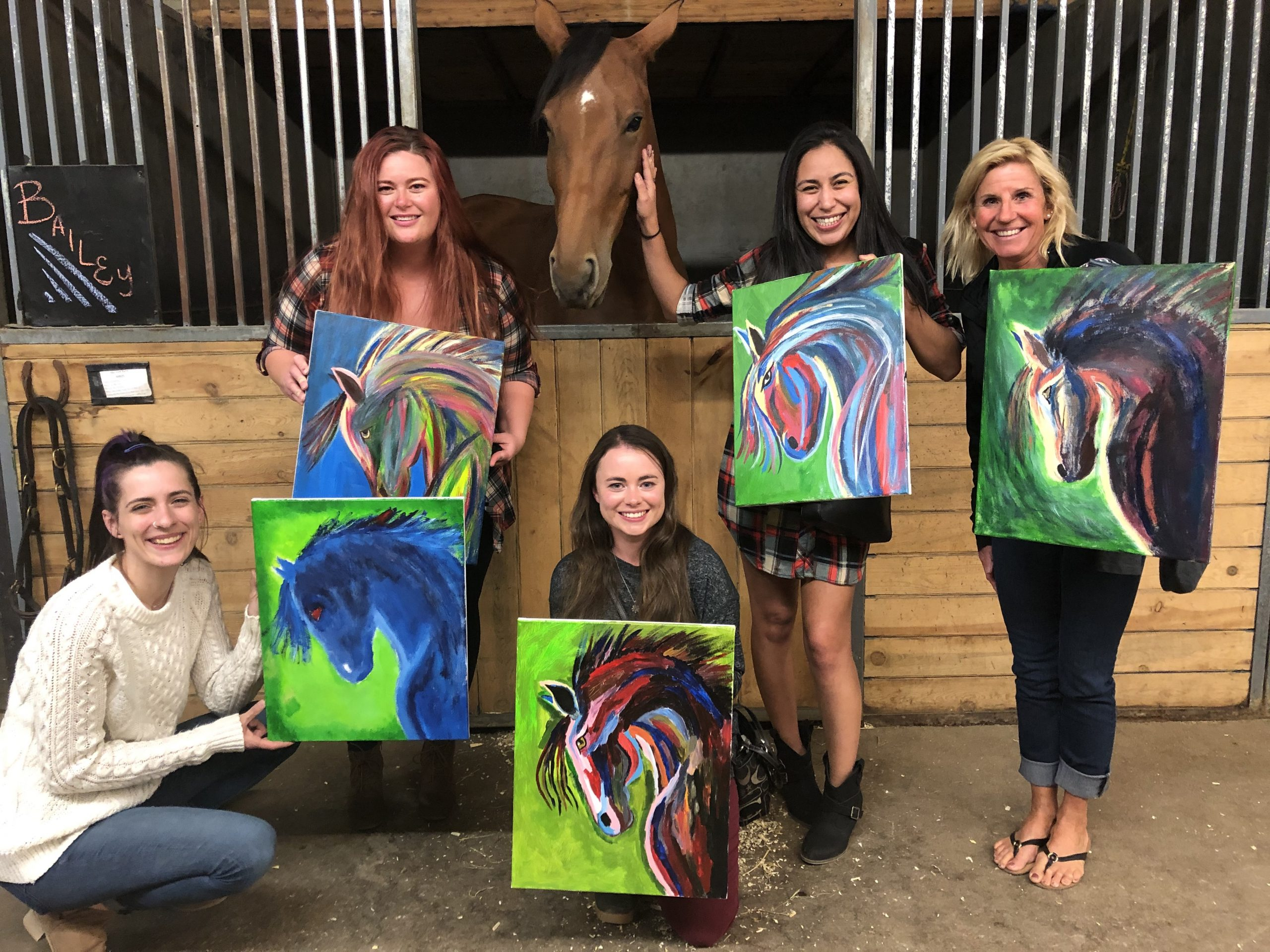 Girls night out at paint and party